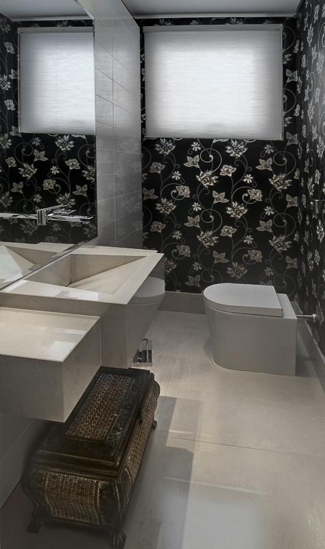 10 sugest es para decorar banheiros e lavabos blog - Papel decorado para paredes ...