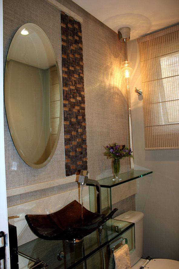 decoracao lavabo rustico : decoracao lavabo rustico:Para compor o charmoso lavabo que une o rústico ao moderno, a