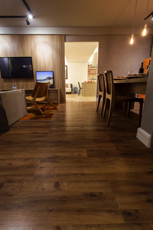 Salas de jantar e de estar com pisos r sticos blog for Sala de estar segundo piso